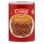 Craigs Lentils In Brine 400g