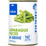 Value Asparagus Pieces in Brine 410g