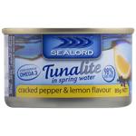 Sealord Tunalite In Spring Water Cracked Pepper & Lemon 85g