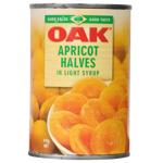Oak Apricot Halves In Light Syrup 410g