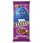 M&ms Chocolate Block Fruit & Nut 155g