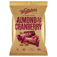 Whittaker's Mini Slab Almond & Cranberry 12pk