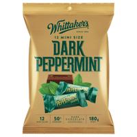 Whittaker's Mini Size Dark Peppermint  Chocolate Bars 180g (15 x 12pk)