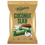Whittaker's Mini Size Coconut Slab Chocolate Bars 12pk