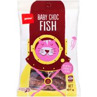 Pams Baby Choc Fish Confectionery 160g