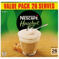 Nescafe Hazelnut Latte Sachets 26pk