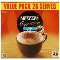 Nescafe Skim Cappuccino Sachets 26pk