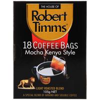 Robert Timms Mocha Kenya Style Coffee Bags 18pk