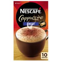 Nescafe Cafe Menu Cappuccino Sweet 10pk