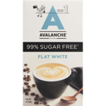 Avalanche Flat White 99% Sugar Free Coffee Sticks 10pk
