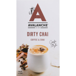 Avalanche Cafe Style Dirty Chai Coffee & Chai Sticks 10pk