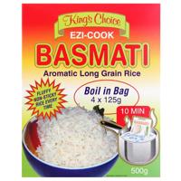 Kings Choice Ezi-Cook Basmati Aromatic Long Grain Rice 4pk