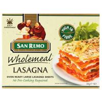San Remo Wholemeal Lasagna 250g