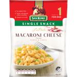 San Remo La Pasta Single Snack Macaroni Cheese Pasta & Sauce 80g