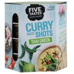 Five Tastes Thai Green Curry Paste Shots 180g