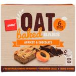 Pams Baked Oat Bars Apricot & Chocolate 6pk