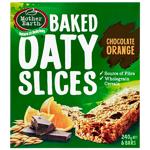 Mother Earth Baked Oaty Slices Chocolate Orange 6pk