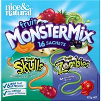 Nice & Natural Fruit Monster Mix Skulls & Zombies 16pk