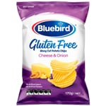 Bluebird Gluten Free Potato Chips Cheese & Onion 170g