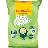 Healtheries Kidscare Sour Cream & Chives Rice Wheels 10pk