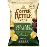 Copper Kettle Sea Salt & Vinegar Potato Chips 150g