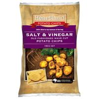 Heartland Salt & Vinegar Potato Chips 150g