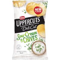 Eta Uppercuts Deli Cut Sour Cream & Chives Potato Chips 140g