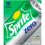 Sprite Zero Lemonade Soft Drink 18pk