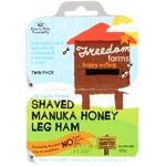 Freedom Farms Shaved Manuka Honey Leg Ham Twin Pack 100g