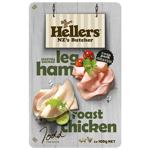 Hellers Shaved Manuka Smoked Leg Ham Roast Chicken 2pk