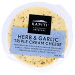 Kapiti Herb & Garlic Triple Cream Cheese 125g