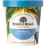 Kohu Road Dairy Free Vanilla Coconut Ice Cream 500ml