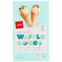 Pams Danish Waffle Cones 8ea