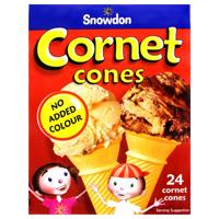 Snowdon Cornet Cones No Added Colour 24ea