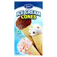 Eskal Ice Cream Cones 12 Regular Cones 12ea