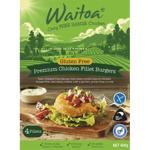 Waitoa Gluten Free Premium Chicken Fillet Burgers 400g