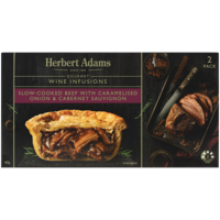 Herbert Adams Slow-Cooked Beef With Caramelised Onion & Cabernet Sauvignon Pies 400g