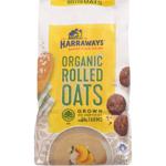 Harraways Organic Rolled Oats Breakfast Cereal 0.8kg