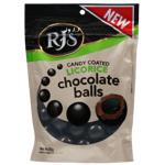 Rjs Licorice Candy Coated Licorice Chocolate Balls 200g