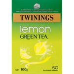 Twinings Lemon Green Tea Bags 50ea