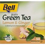 Bell Lemon & Ginger Zesty Green Tea Bags 50ea