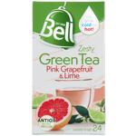 Bell Pink Grapefruit & Lime Zesty Green Tea Bags 24ea