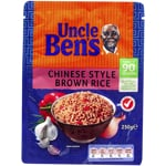 Uncle Bens Express Rice Dish Chinese Style Brown Rice 250g