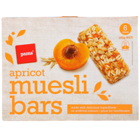 Pams Apricot Muesli Bars 6 Bars 6pk