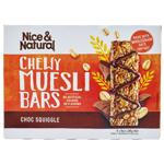 Nice & Natural Choc Squiggle Chewy Muesli Bars 6pk