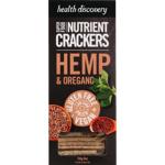 Health Discovery Hemp & Oregano Superfood Nutrient Crackers 150g