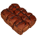 Bakery Choc Chip Hot Cross Buns 6ea