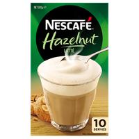 Nescafe Cafe Menu Hazelnut Latte Sachets 10pk