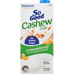 Sanitarium So Good Unsweetened Cashew UHT Milk 1l