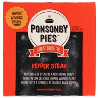 Ponsonby Pies Pepper Steak Gourmet Pie 235g